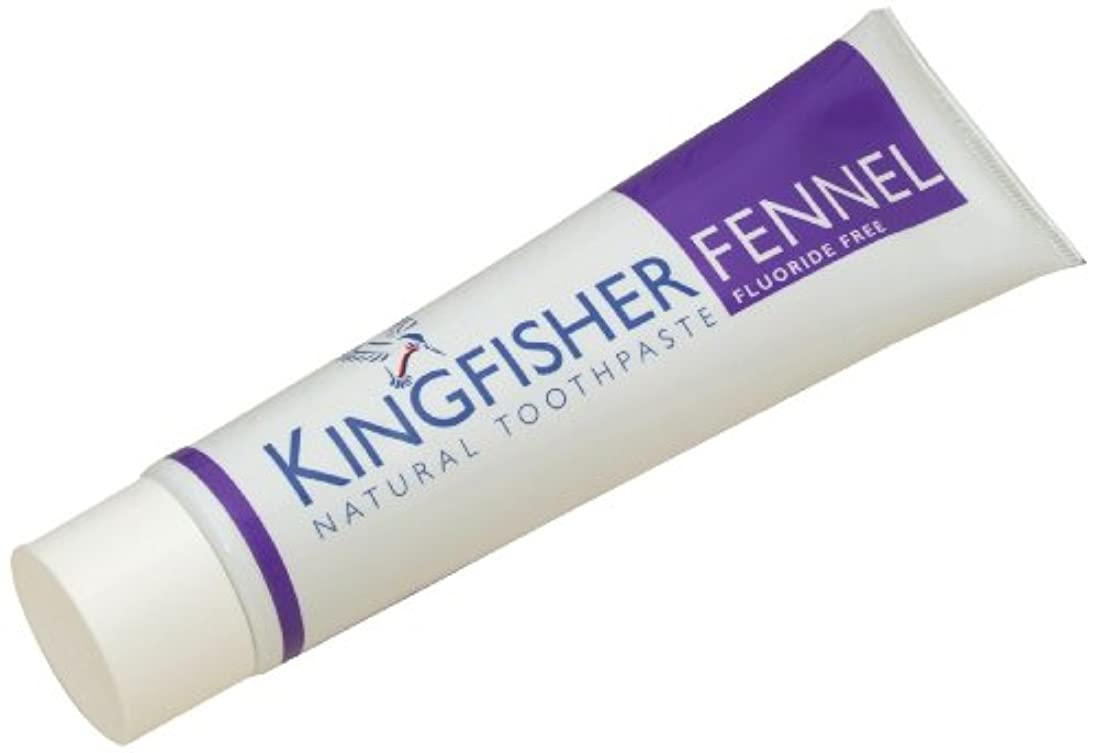 塊噛むコンテンツKingfisher 100 ml Flouride Free Fennel Toothpaste - 3-Pack