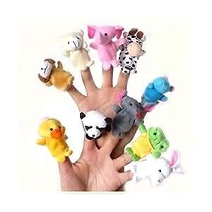 指人形 動物 10種類セット