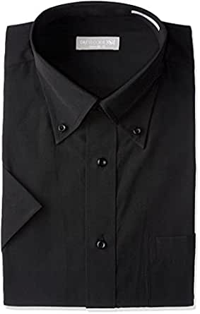 半袖ボタンダウン 黒 ワイシャツ ボタンダウン 半袖ワイシャツ メンズ 半袖 Yシャツ Sサイズ