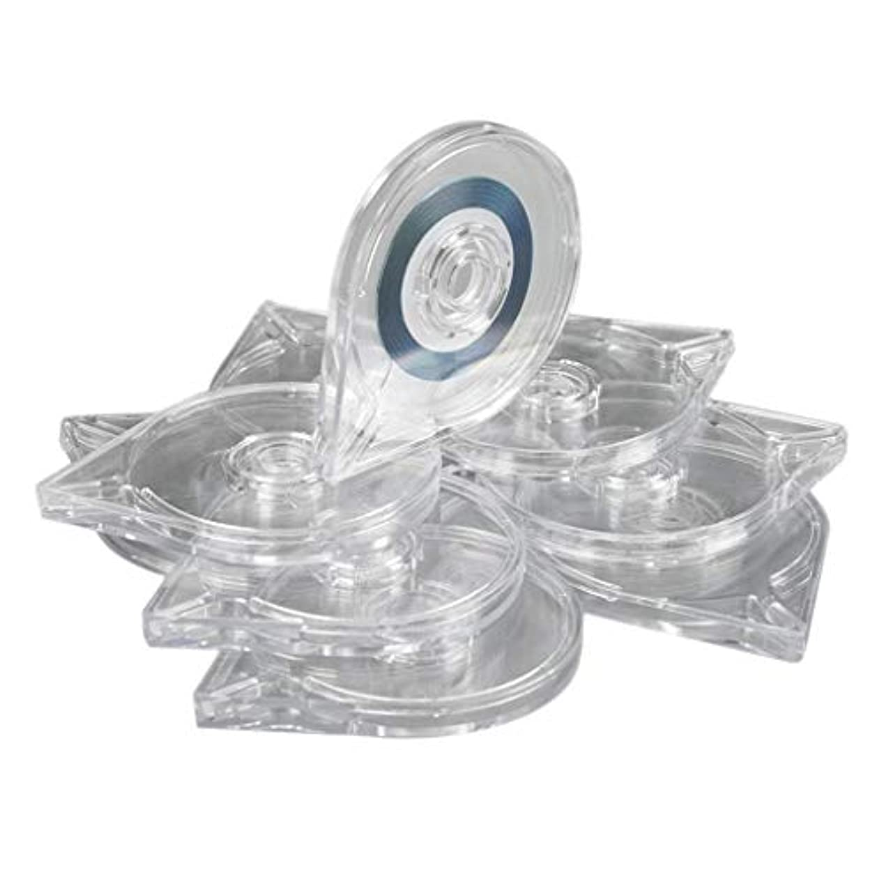 フロントランプリアルB Blesiya 10本 ネイルアートツール ストライピングテープラインケース ボックス プラスチック マニキュア