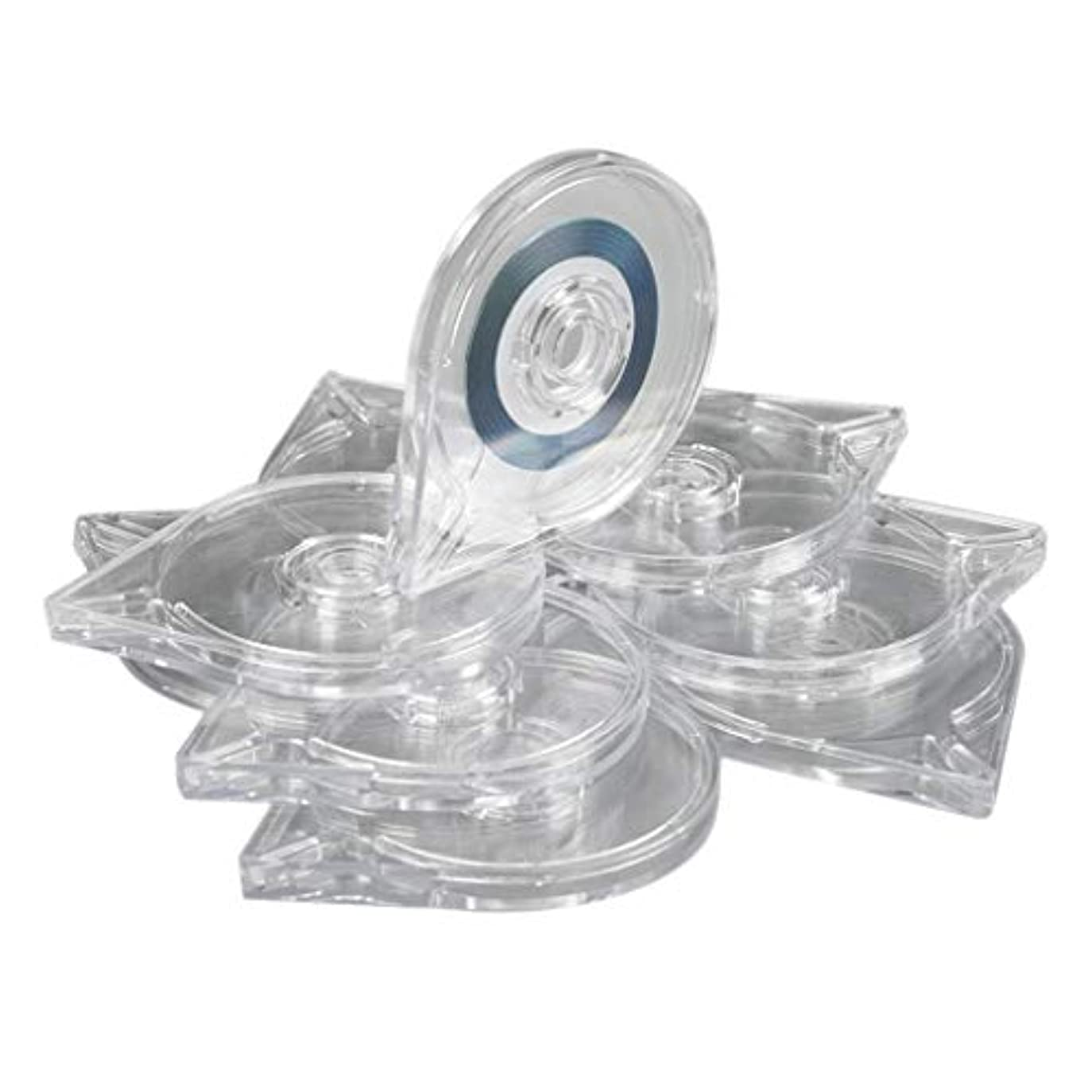 B Blesiya 10本 ネイルアートツール ストライピングテープラインケース ボックス プラスチック マニキュア