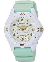 [シチズン キューアンドキュー]CITIZEN Q&Q 腕時計 シナモロール 15周年 記念モデル アナログ ウレタンベルト グリーン HC01-001 ガールズ