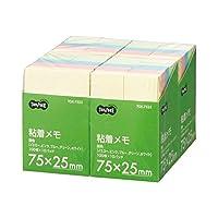 TANOSEE 粘着メモ ボリュームパック 75×25mm 1セット (40冊:10冊×4パック) ×3セット
