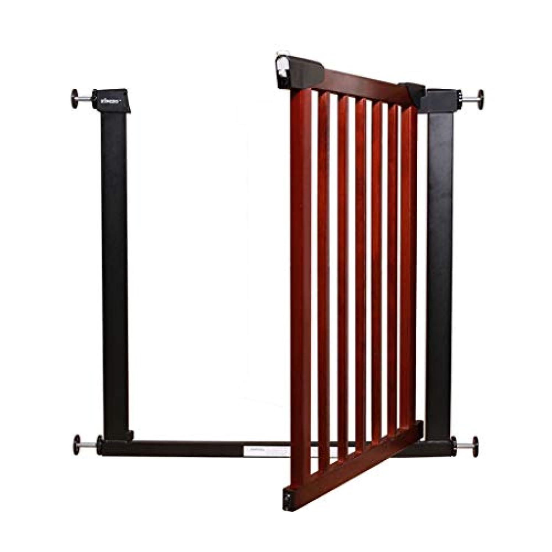 保護フェンスの安全フェンス 堅い木の階段保護フェンス 屋内階段保護フェンスのフリーパンチ (Color : Brown, Size : 74.5cm)