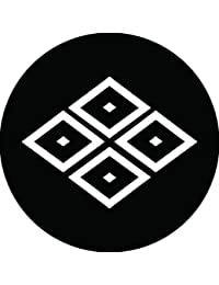 家紋シール 中陰四つ目菱紋 布タイプ 直径40mm 6枚セット NS4-2259