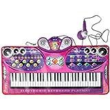 LINGLING-キーボード ピアノ毛布子供のギフト音楽玩具キーボード早期教育パズル3-6歳 (色 : ピンク)