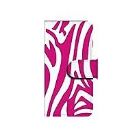 au iPhone6Plus(5.5インチ) ゼブラ(ピンク×ホワイト) スマホケース ブック 手帳型 カバー ql662-a0010(pink×white)