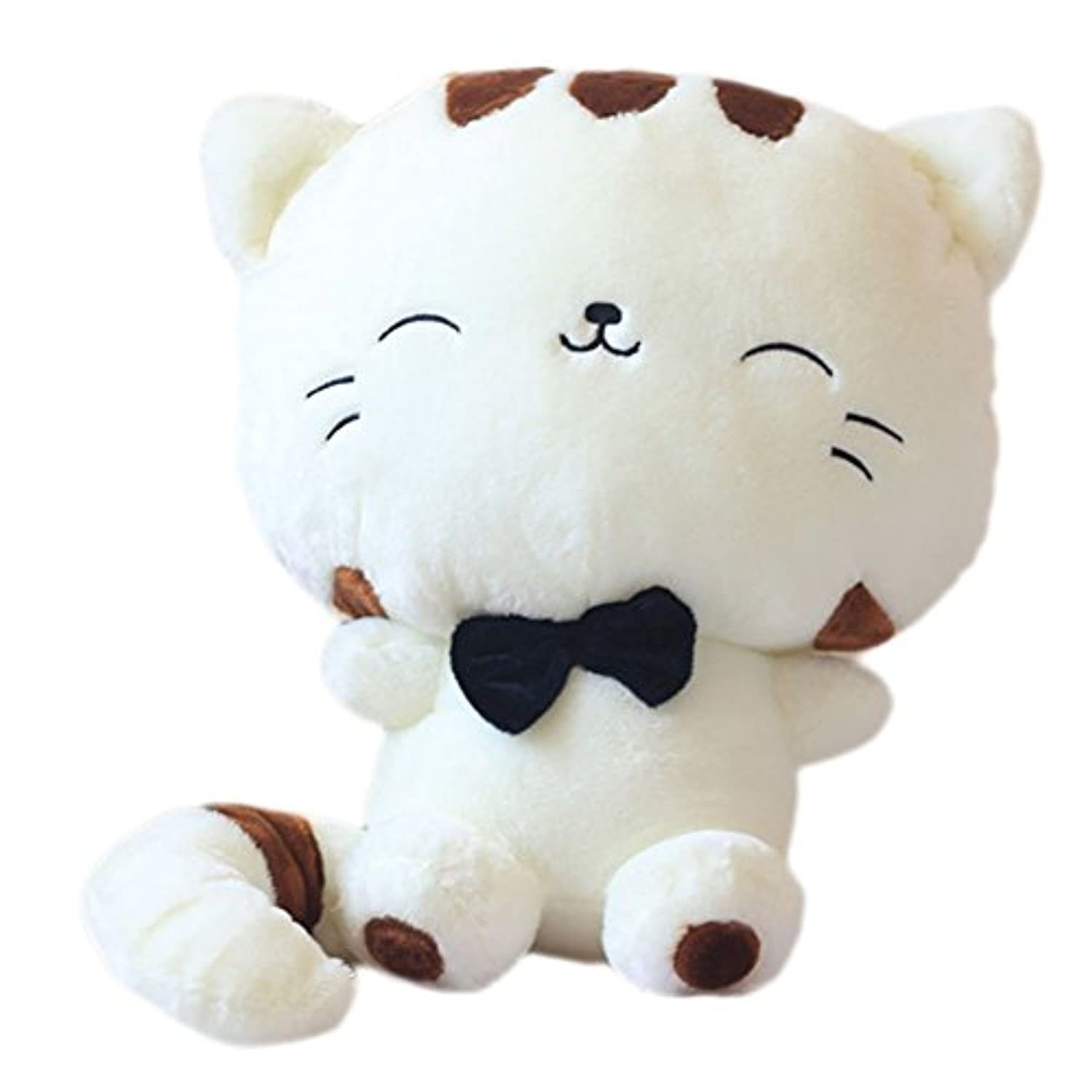 Tingxuan 18 45CM Include Tail Cute Plush Stuffed Toys Cushion Fortune Cat Doll Beige by Tingxuan