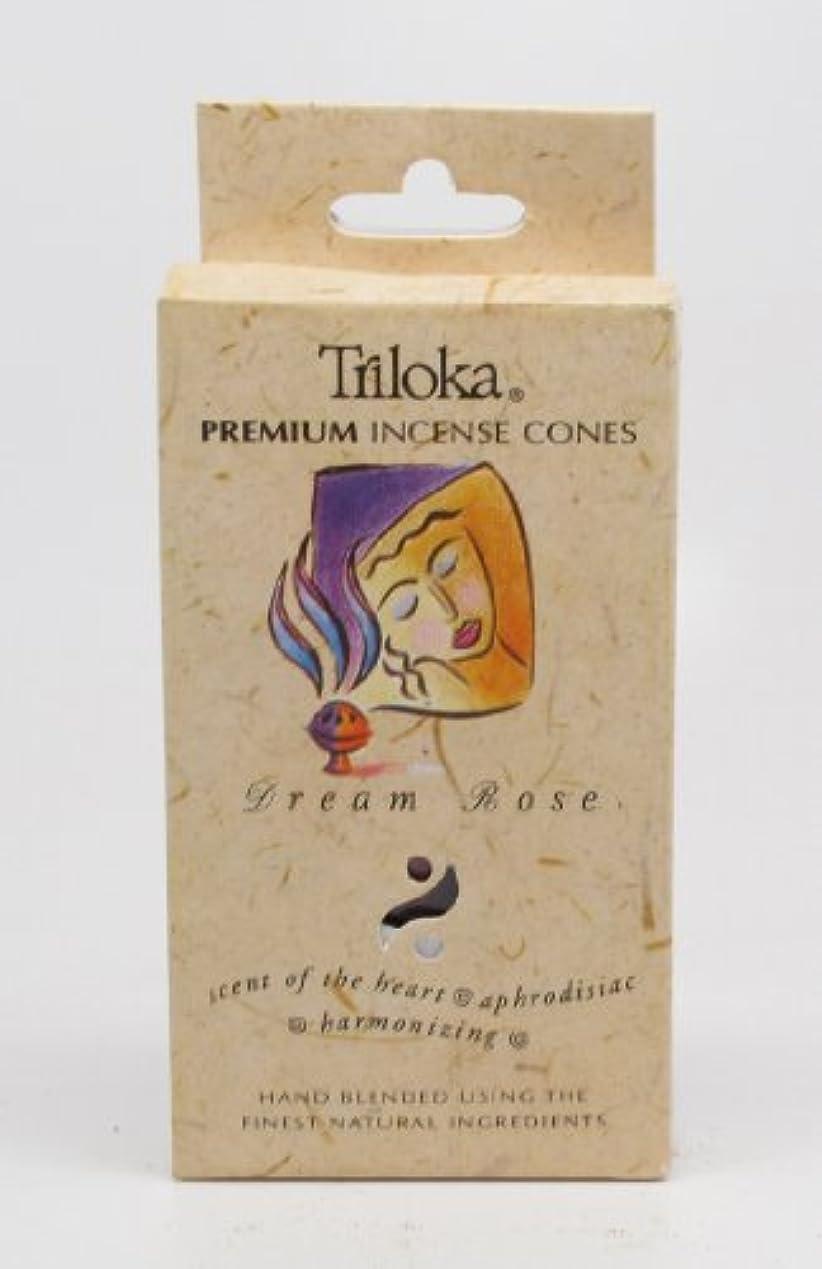 少し区別する二層夢ローズ – TrilokaプレミアムCone Incense