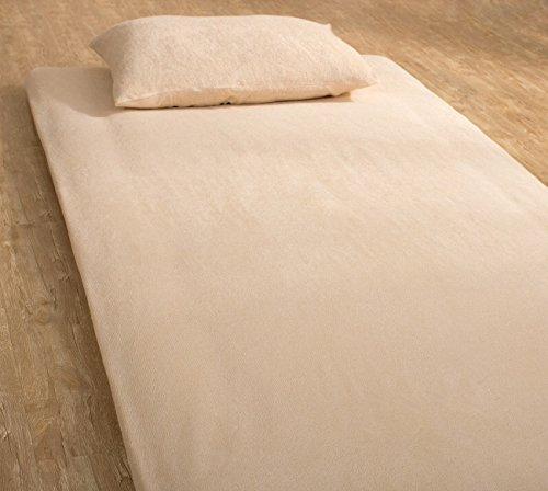 いろどりSTREET 敷き布団カバー 和式用 フィットシーツ シングル 抗菌防臭加工付き ベージュ パイル 綿 100%