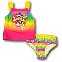 Paw Patrol Girls Two Piece Swimsuit Swimwear for Toddler Girls