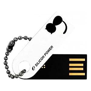 シリコンパワー USB2.0フラッシュメモリ TOUCH 820 4GB 白 回転スライド式 SP004GBUF2820V1W