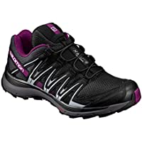 SALOMON Women's XA Lite W Trail Running Shoes, Black (Black/Magnet/Grape Juice), 8.5 AU