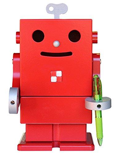木製卓上収納ボックス ロボット ピコ レッド PICO 収納家具/小物収納/ミニロビット/ペン立て/スパイスラック/日本製/個性的/かわいい