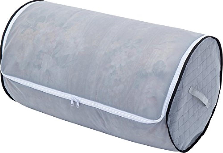 アストロ 活性炭丸める収納羽毛布団保存ケース 不織布製 グレー 消臭 円筒型で立てられる 171-43