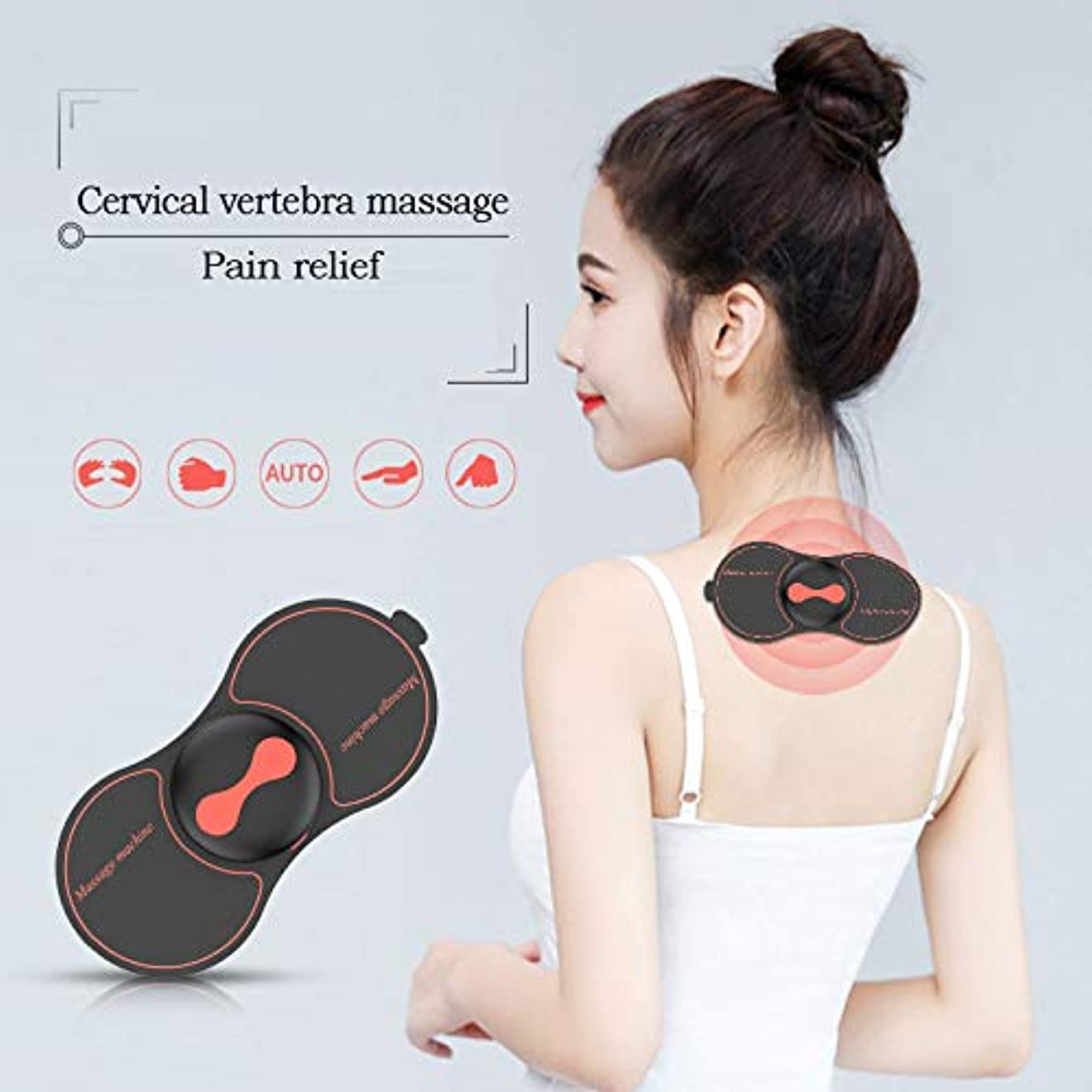 明らかに売上高アスレチック多機能家庭子宮頸ウエストショルダーマッサージャーパッドを充電ネックミニパルスインテリジェントマッサージ