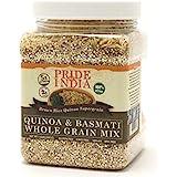 Pride Of India - Quinoa & Basmati Whole Grain Mix - Brown Rice Quinoa Supergrain, 1.5 Pound Jar