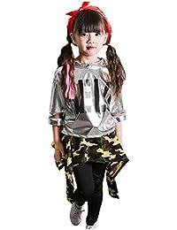 MARIAH(マリア)上下3点セット キッズ ヒップホップ ダンス衣装 ダンスウェア 子供用 キッズ 女の子