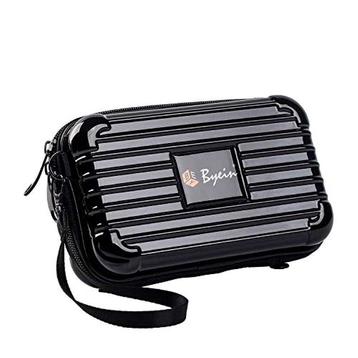 弾性ドメイン大脳BYEIN 化粧ポーチ 多機能ポーチ 収納バッグ 軽量 旅行 出張 お出かけ 持ち運び便利 スーツケース型