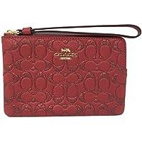 COACH Womens Corner Zip Wristlet Wallet In Glitter Signature Leather F88085