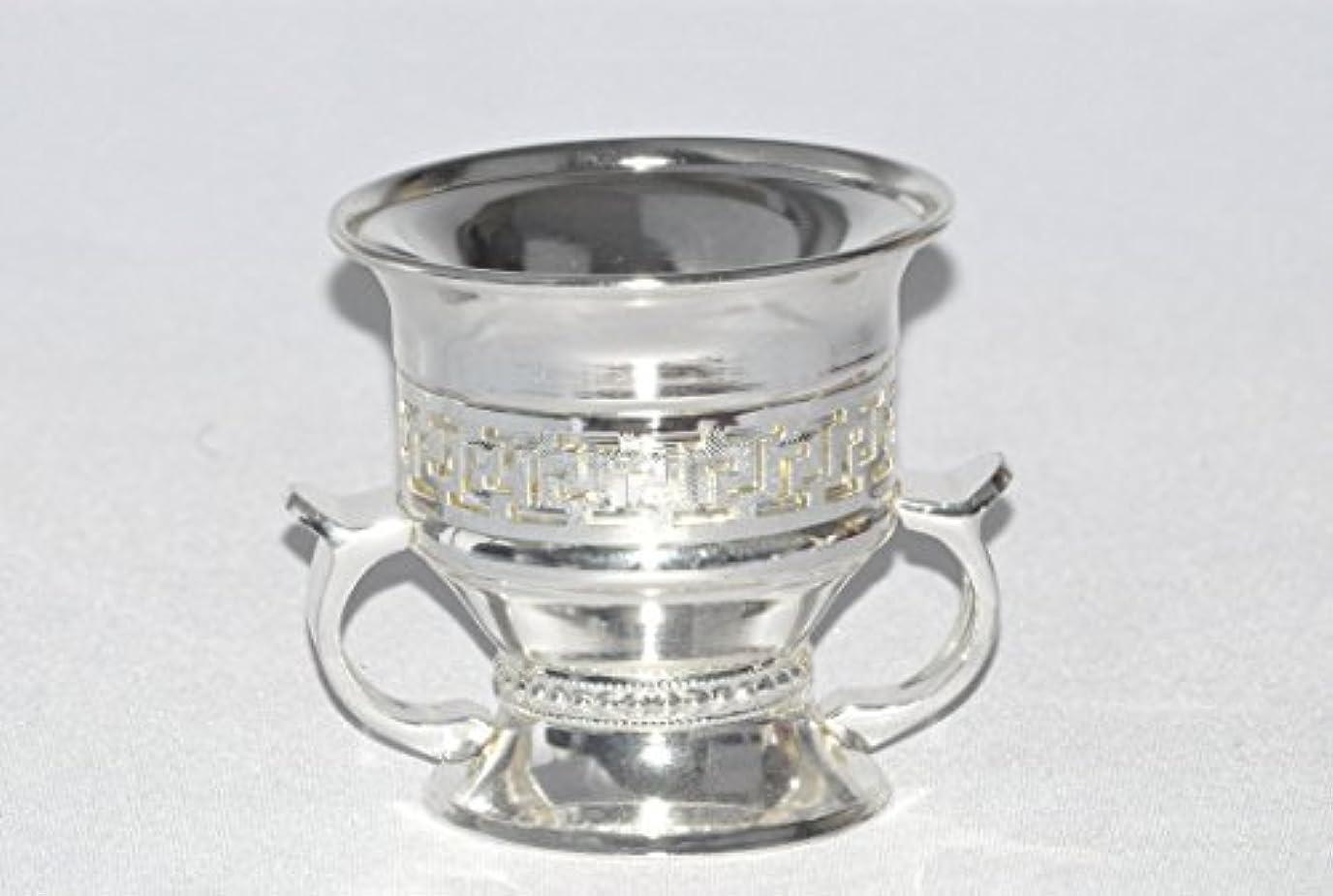証明するサロン発動機Arabia Incense / bakhoor Burner ( Mabkhara ) – Oud Burner、シルバーメタル、トレイInside – USA Seller