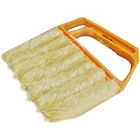 ゴシレ Gosear 洗える手ウィンドウ ブラインド ブレード ブラシ ダスト クリーナー ダスター ブラシ クリーニング 黄色