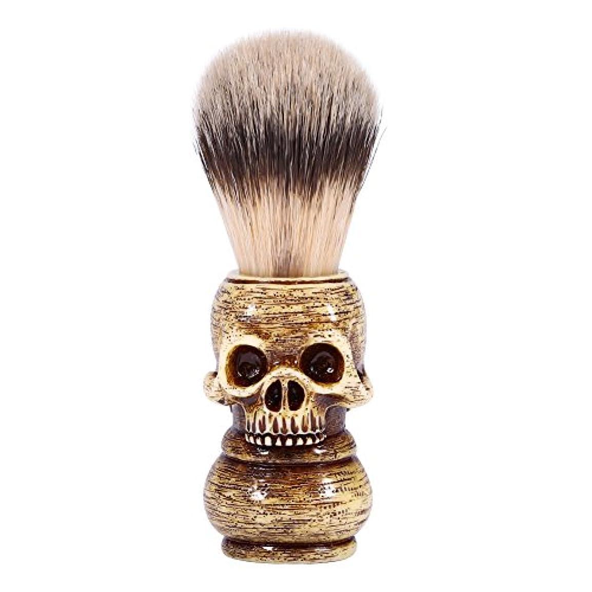 世論調査検出器じゃがいもシェービングブラシ メンズ グルーミングツール メイクアップ サロン ビアードシェービングブラシ ひげ 洗顔 髭剃り 男性 ギフト理容