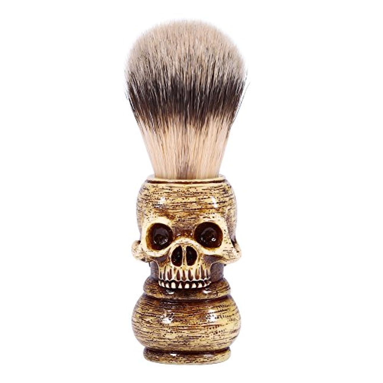 相対サイズポンプ動かすシェービングブラシ メンズ グルーミングツール メイクアップ サロン ビアードシェービングブラシ ひげ 洗顔 髭剃り 男性 ギフト理容