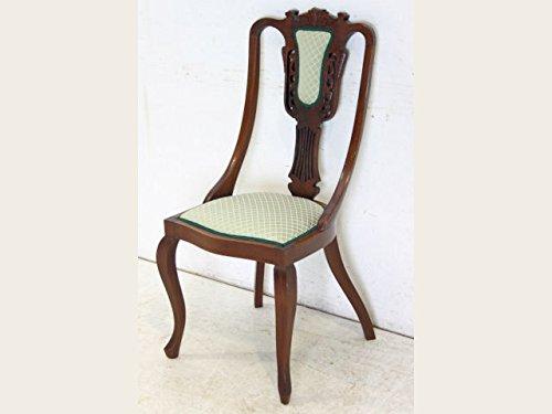 【送料無料】dn-13 1910年代イギリス製アンティーク エドワーディアン ウォルナット ダイニングチェア (椅子)【英国】【西洋】【骨董】【ヴィンテージ】【レトロ】【家具】