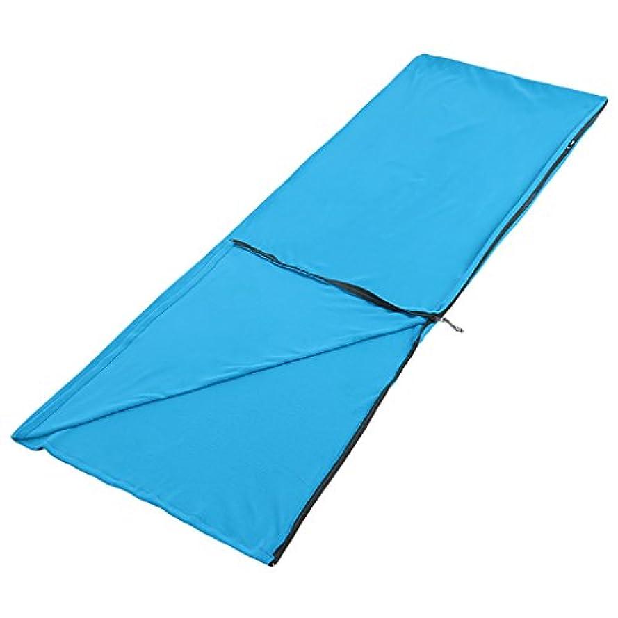 機密ヒット等しいシングルスリーピングバッグライナー、暖かい、3シーズン、軽量、屋外キャンプ (色 : Blue)