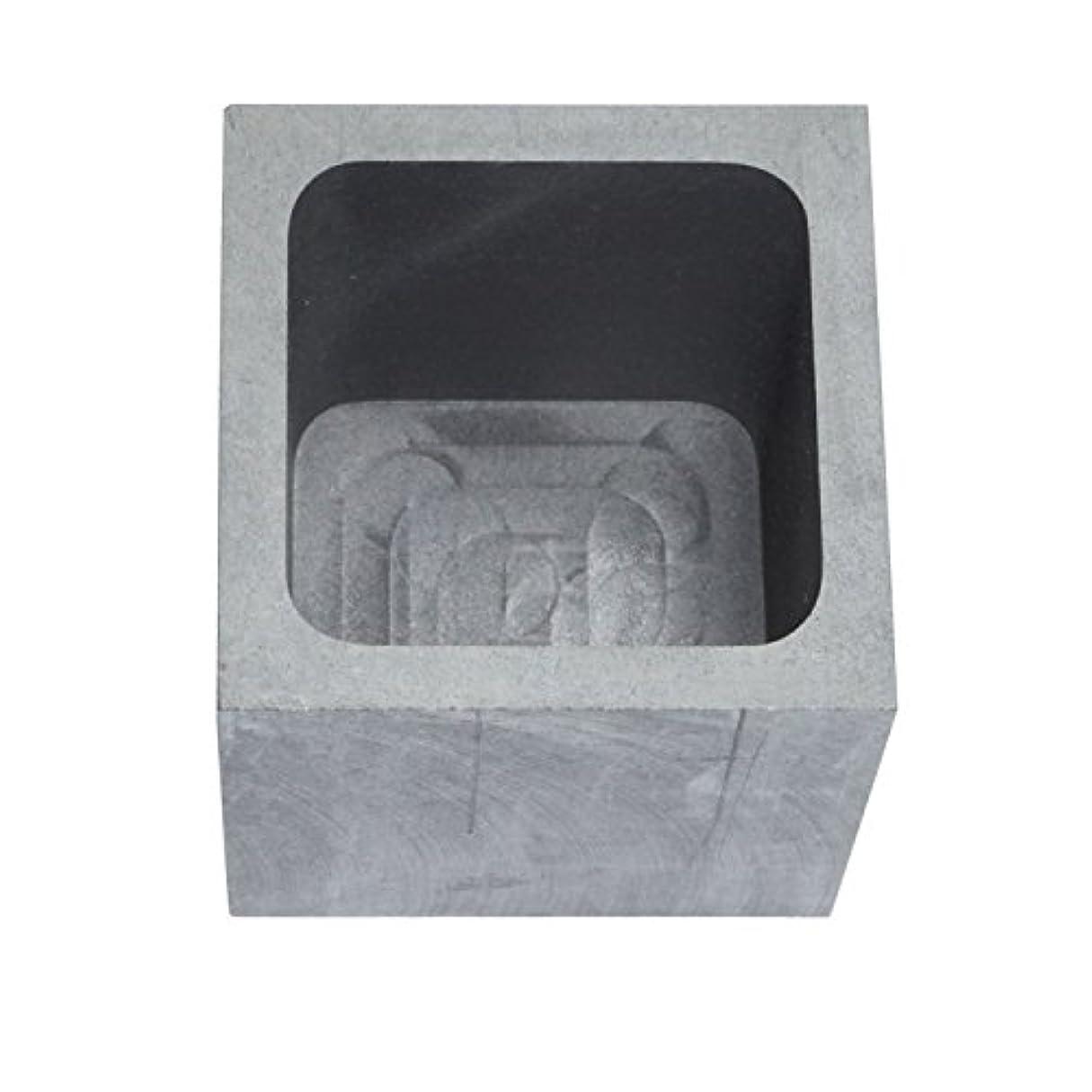 太字気球コンバーチブル純黒鉛るつぼ 角型 石墨坩堝 鋳造インゴット 鋳型るつぼ シルバーゴールド溶融 金銀銅融解用