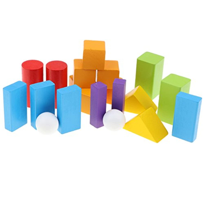 Kesoto ウッド製 幾何学ソリッド 円柱 球 立方体 数学幾何学モデル 全20点