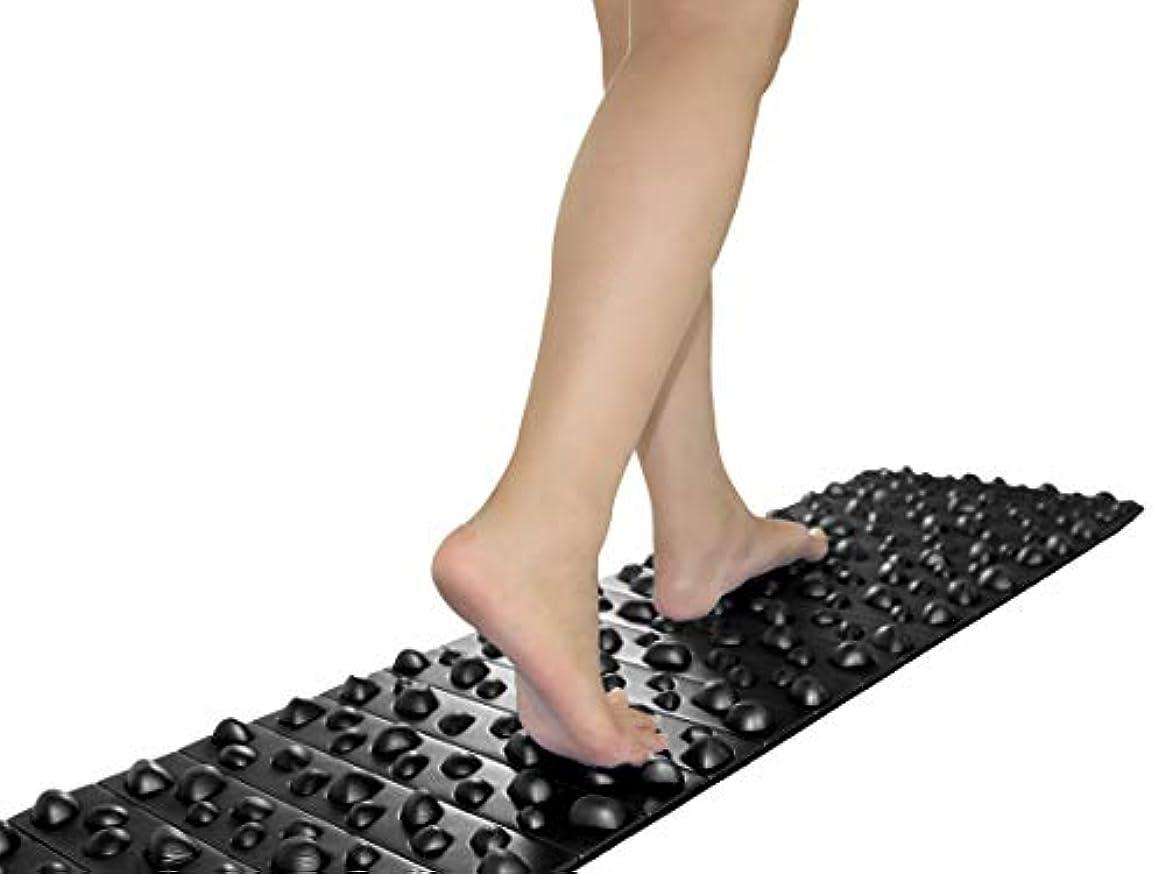 軽くエージェント反対するバランスワン 足ツボマット(120cm) (黒)