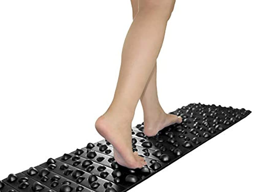 売る量差し迫ったバランスワン 足ツボマット(120cm) (黒)