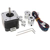gazechimp 3Dプリンター用 42ステッピングモーター 1.8度0.9A 3.96V 42 mm カプラー スパナ CNCアクセサリ