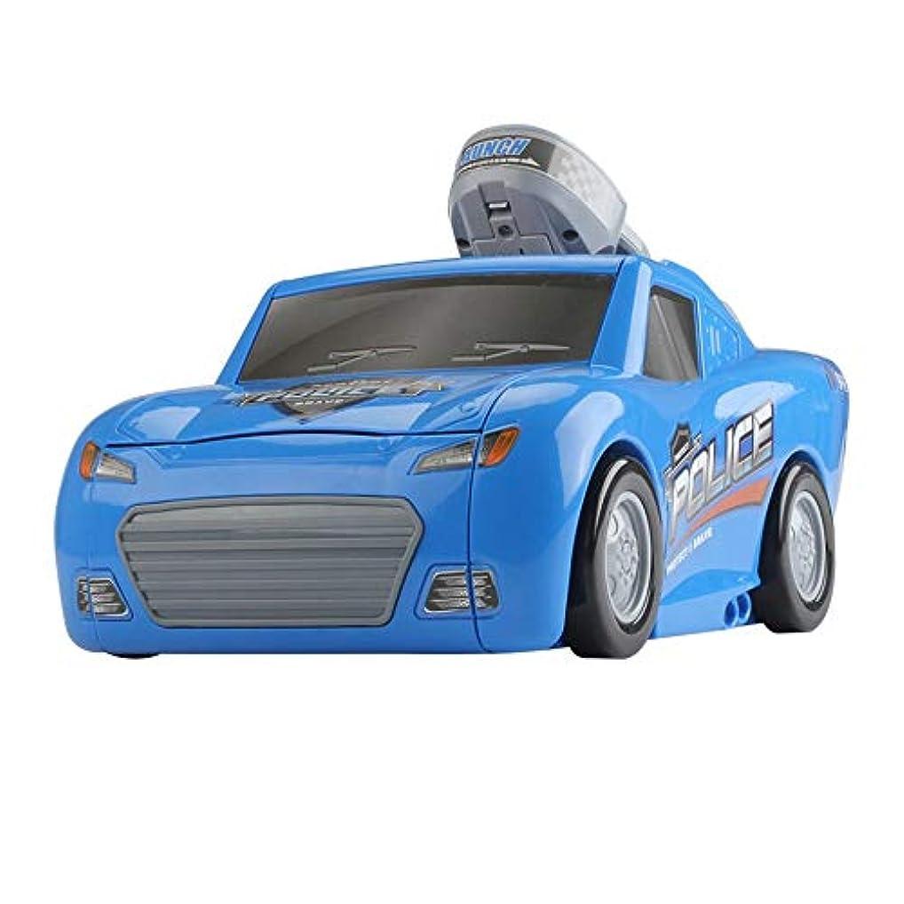 一流汗万一に備えてBonni 子供用玩具カタパルトバトルコンテナ警察トラック/音楽&ライト収納ボックス2スライディングスモールアロイカーモデルおもちゃ