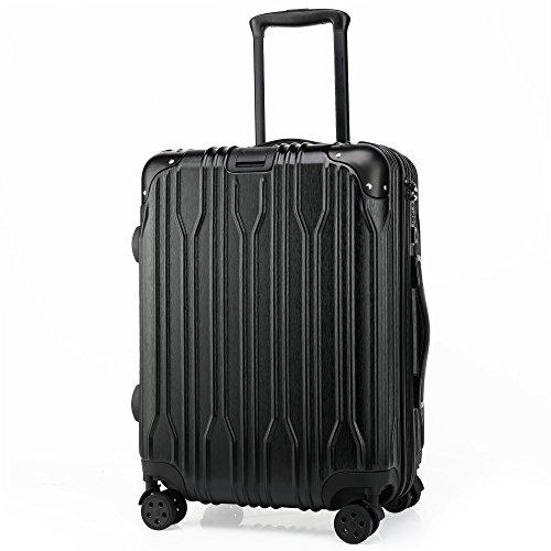 クロース(Kroeus)スーツケース キャリーケース 耐衝撃 TSAロック 海外旅行 出張 362°消音キャスター 保護用ガード 軽量 ブラック Lサイズ