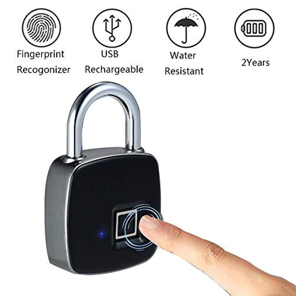 狭い吐き出すホストBluetooth 指紋南京錠、防水キーレス南京錠、ジム、家のドア、スーツケース、バックパック、オフィス、サポート USB 充電 (更新版) のために適した