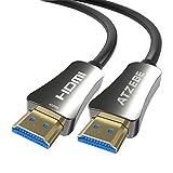ATZEBE 光ファイバーhdmi ケーブル 10m、プレミアムHDMI 4K ケーブル 60P/4K HDR/Ultra HD/YUV4:4:4/HDCP 2.2/ARC CEC HEC ク機能