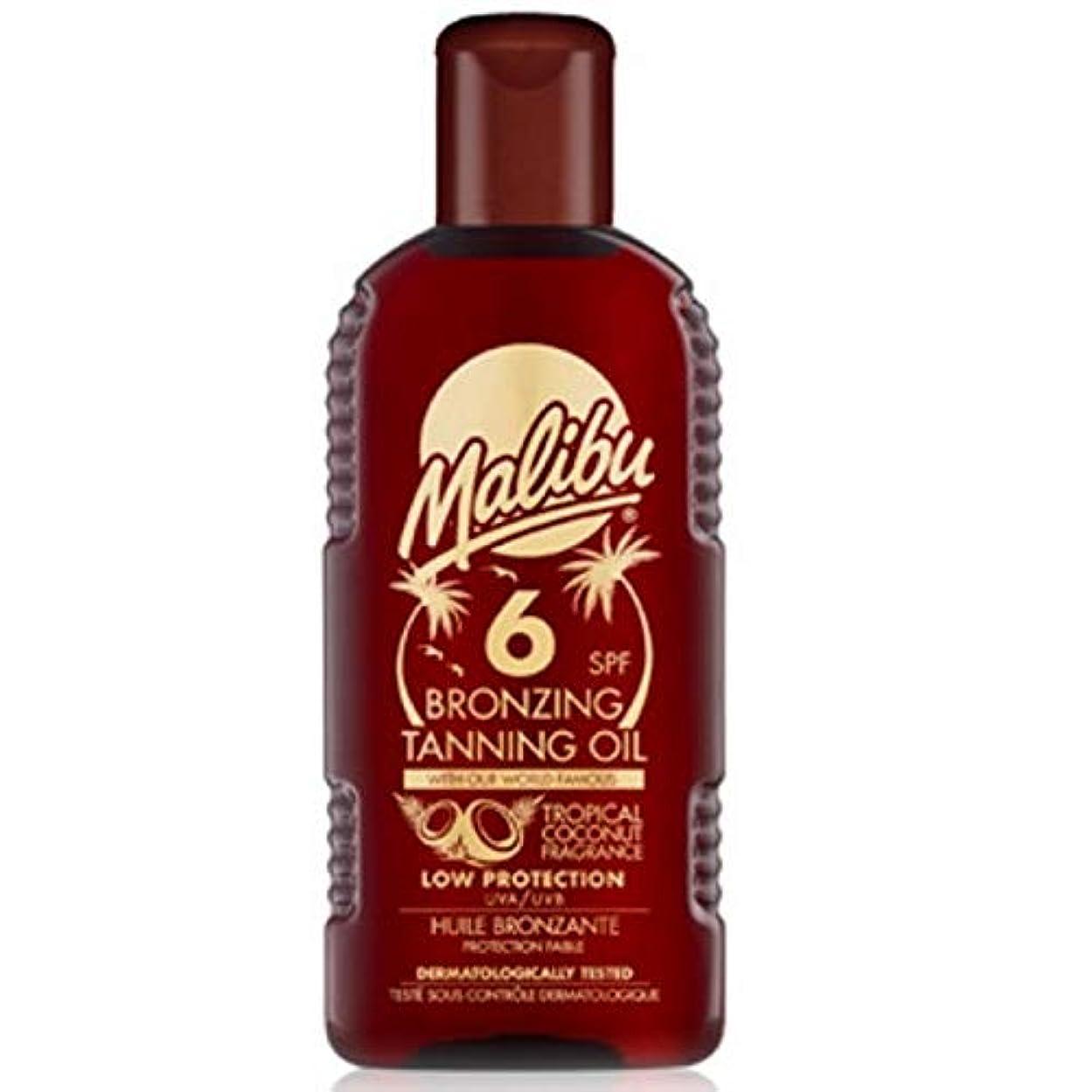 せせらぎ騒大工[Malibu ] マリブブロンズ日焼けオイルSp6 - Malibu Bronzing Tanning Oil Sp6 [並行輸入品]
