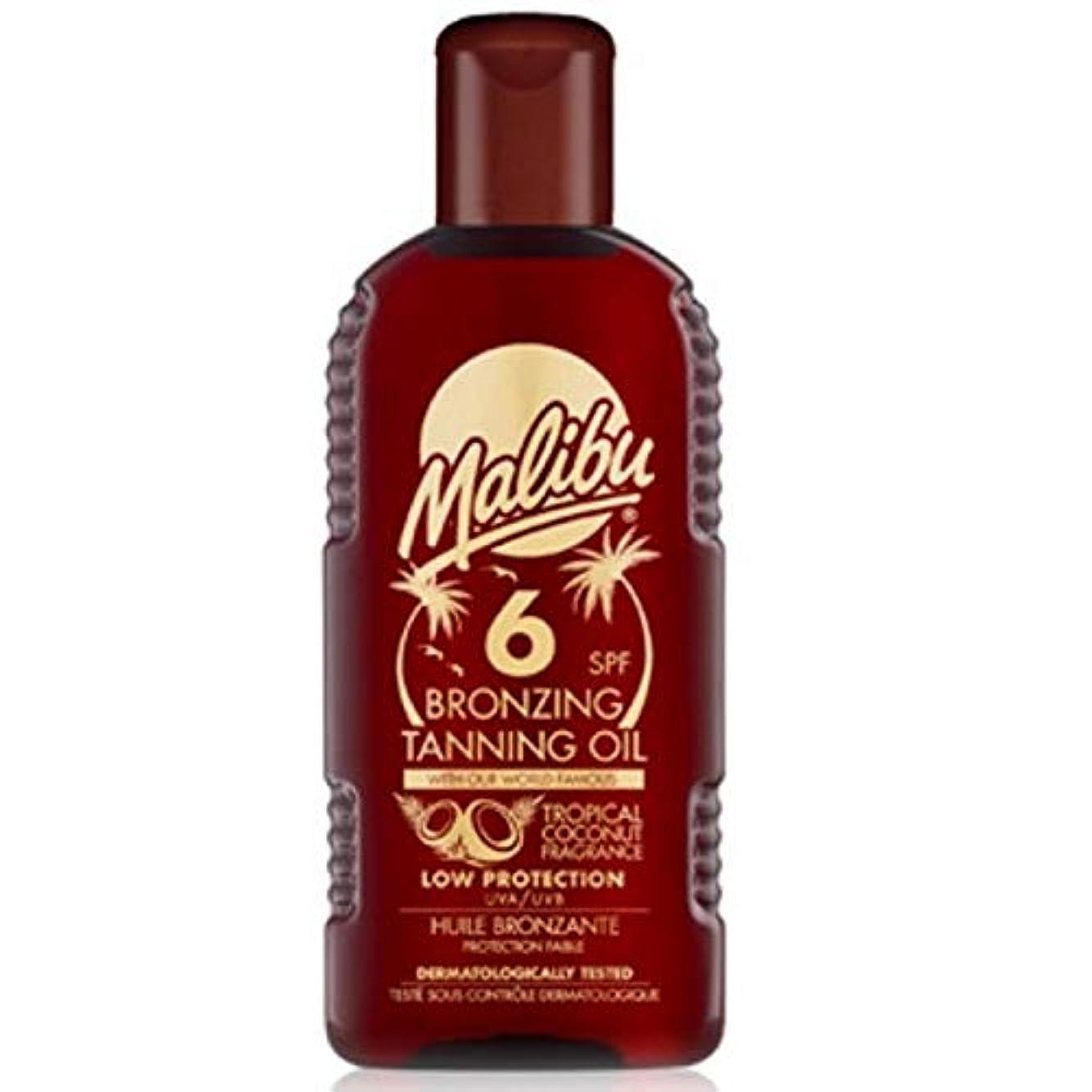 活力メール創始者[Malibu ] マリブブロンズ日焼けオイルSp6 - Malibu Bronzing Tanning Oil Sp6 [並行輸入品]