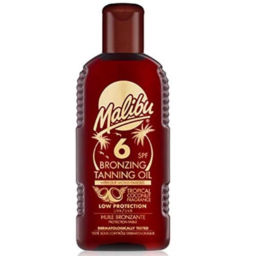 滞在セイはさておきシャンパン[Malibu ] マリブブロンズ日焼けオイルSp6 - Malibu Bronzing Tanning Oil Sp6 [並行輸入品]