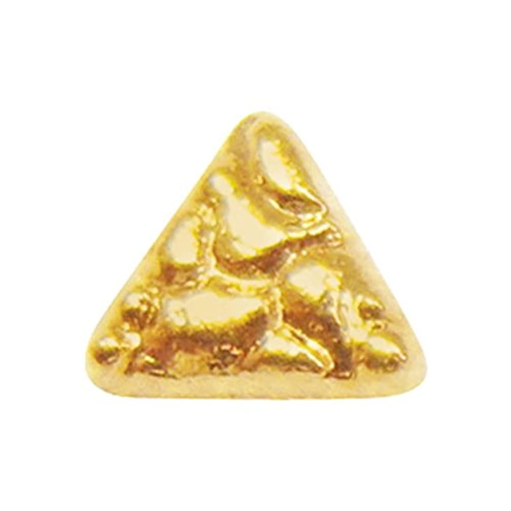 将来の尊敬する頭痛ジェルネイル  サンシャインベビー アンティーク トライアングル(ゴールド) 10P