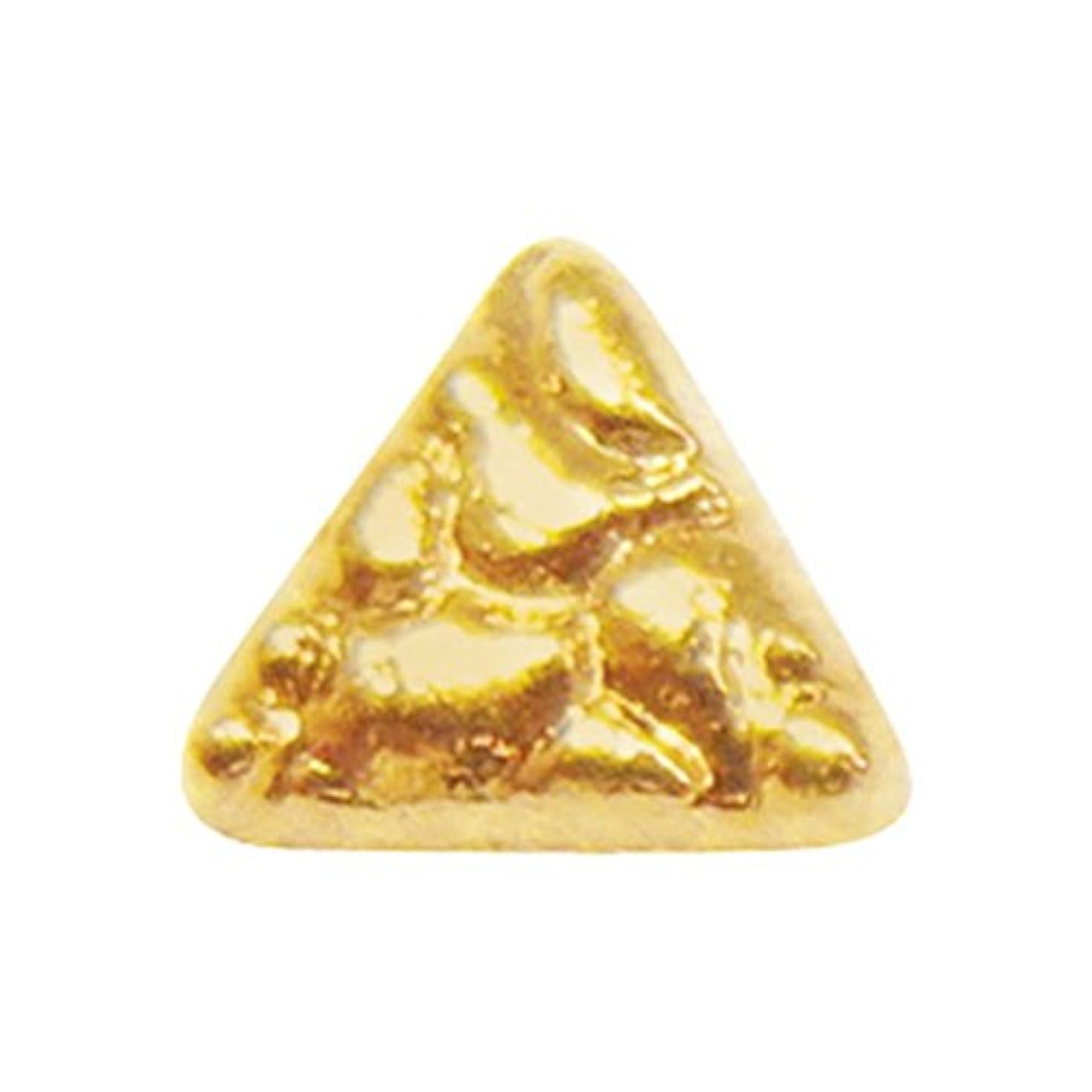 モザイク日焼け守るジェルネイル  サンシャインベビー アンティーク トライアングル(ゴールド) 10P