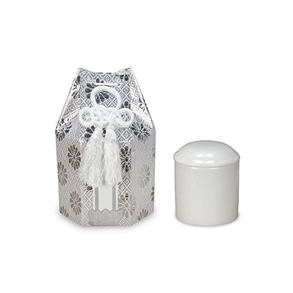 タツクラフト 骨袋 骨壷 セット ミニ 2寸 銀...の商品画像