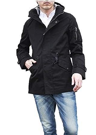 (ルイスシャブロン)LOUIS CHAVLON スプリングコート モッズコート ミリタリー ジャケット メンズ [4140-4209B] (M, 49.BLACK)