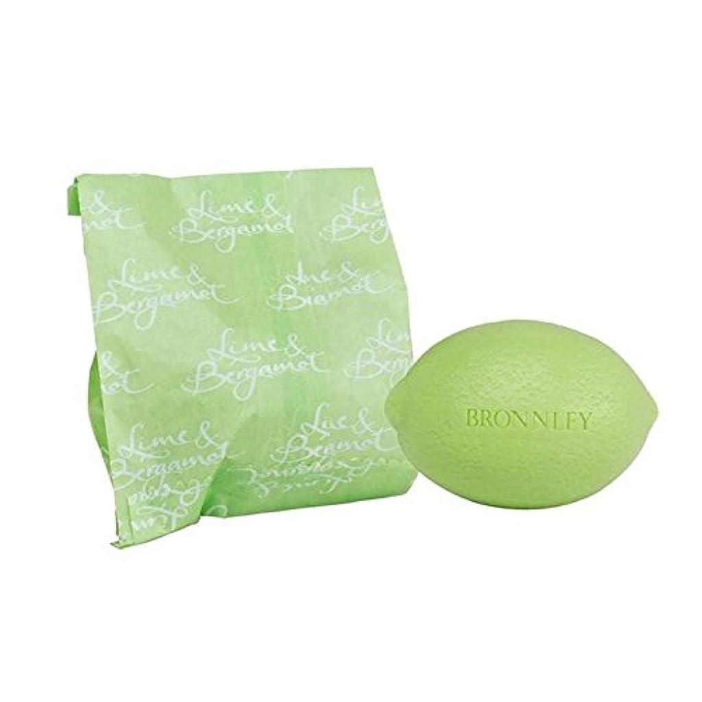 ライム&ベルガモット石鹸100グラム x4 - Bronnley Lime & Bergamot Soap 100g (Pack of 4) [並行輸入品]