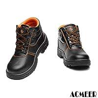 [AcMeer] 安全靴 作業靴 メンズ レディース ワークブーツ 短靴 黒 セーフティーシューズ メッシュ 先芯入り 耐油 耐滑 耐摩耗 防水 防汚 ブラック