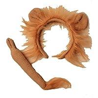 Rimi Hanger Lion & Donkey Ears Alice Headband with Tail Fancy Hen Night Party Accessory One Size