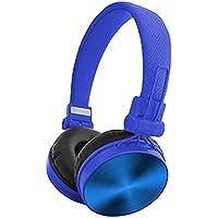 有線折りたたみ式イヤホン、ポータブル折りたたみ3.5 MM over-earヘッドバンド、サラウンドサウンドステレオメガバスヘッドの電話タブレットコンピューターノートパソコン ブルー SO432730039